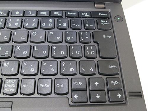 ThinkPadX240s 日本語キーボードは右上のキーが小さい