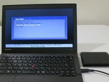 リカバリーメディアUSBドライブを取り付けて再起動 換装したSSDにリカバリーメディアで復元する
