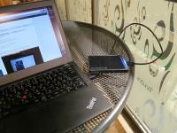 ThinkPadX240sと小さいポータブルハードディスク