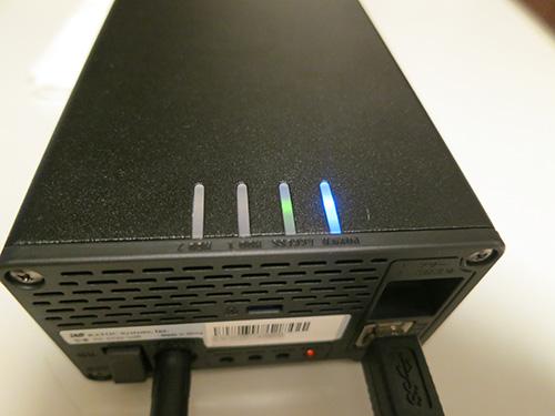 RS-EC22-U3R HDDが壊れた時はLEDライトとブザーで知らせてくれる