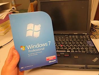 WindowsXP対策 ThinkPad X200sにWindows7をクリーンインストールしてみた