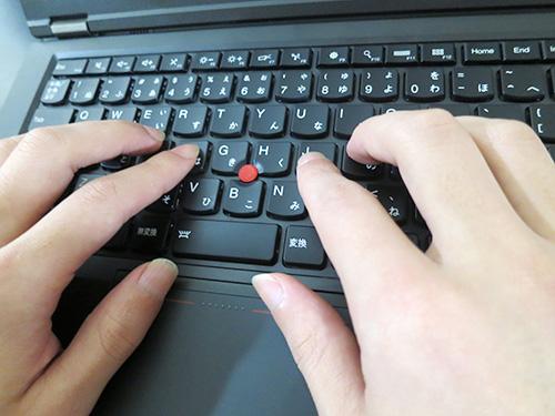 キーを打つのが楽しくなるノートパソコン