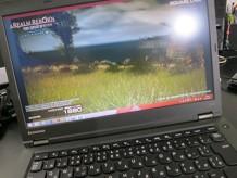 ThinkPad T440pでFF14のベンチマーク中
