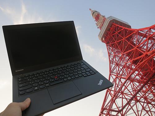 東京タワーのふもとでThinkPad X240s