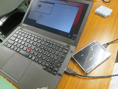 ThinkPad X240sへ撮影済みのデータを転送