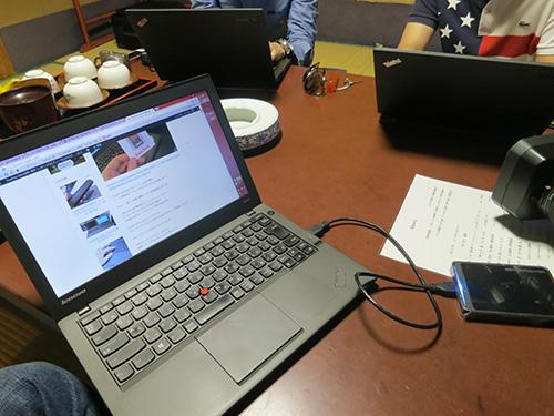 ThinkPad X240ユーザーの仲間2人は1泊2日電源なし