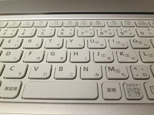 Let's note(レッツノート)CF-AX3のキーボード