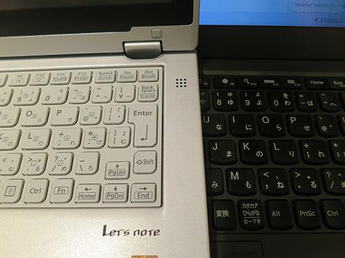 Let's note(レッツノート)CF-AX3とThinkPad X240sのキーボード