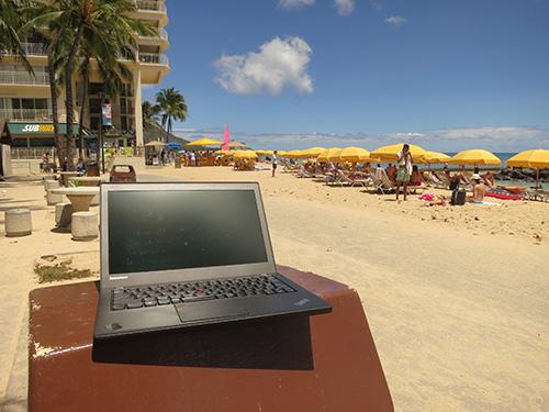 ワイキキビーチとThinkPad X240s