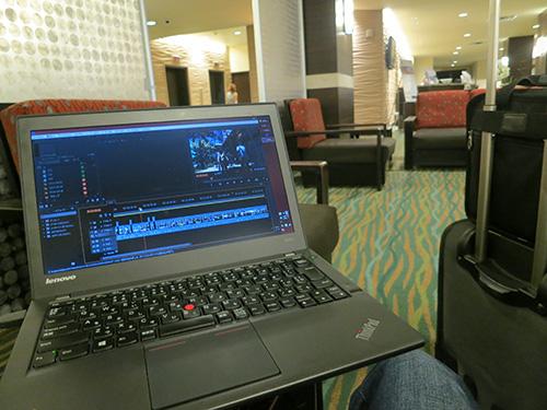 空き時間も有効に使える旅先でのノートパソコン