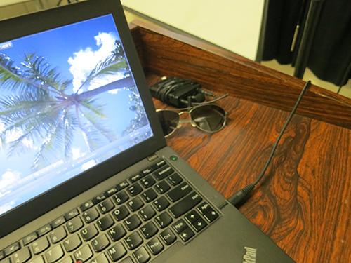 ThinkPad X240 イヤホンジャックから ミキサーへ そしてスピーカーへ