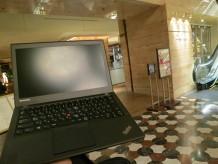 ハイアットリージェンシー東京 CAFE カフェ とThinkPad X240s