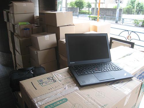 たくさんの荷物とThinkpad X240s