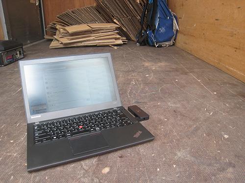 荷台でThinkPad X240s