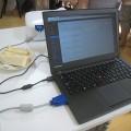 ThinkPad X240s にプロジェクタをつなげてセミナー講師