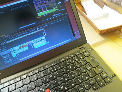 ThinkPad X240sで動画編集
