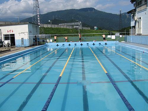 ここで水泳合宿