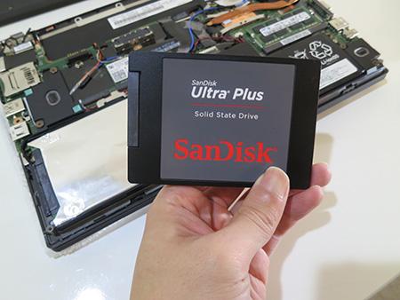 Thinkpad X240のSSD感想に使ったサンディスクウルトラプラスSSD