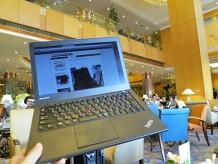横浜ベイシェラトン ラウンジでThinkPad X240s