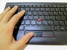 クリックがしやすいThinkpad ブルートゥース ワイヤレス トラックポイントキーボード