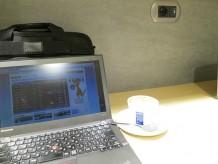 ローマ フィウミチーノ空港 カフェで無料wifi