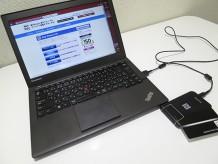 ThinkPad X240s felica未対応なのでパソリを使ってチャージ