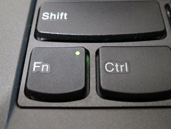 ThinkPad X250 fnキーのライトがついているときは・・・