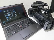 ソニーのHXR-NX3からThinkPad X240sに動画を取り込んで動画編集