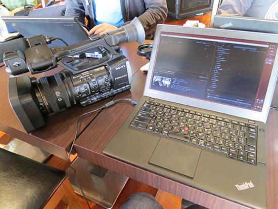 大阪で撮影した動画をその場で編集その場で書き出し
