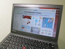 ThinkPad X240s でクリスマス素材を使ってバナー作成