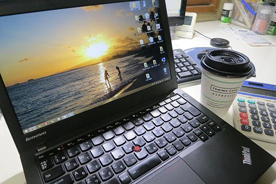 ThinkPad X240 IPS液晶にハワイ壁紙