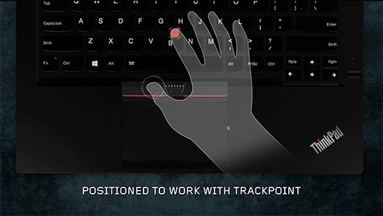 ThinkPad X250 右、左クリックボタンとセンターボタンが独立<br />