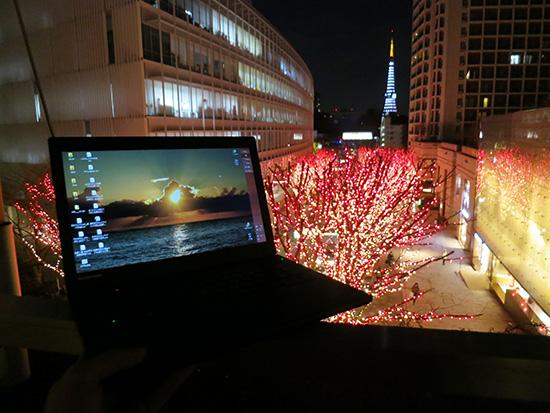 Thinkpad X240s とけやき坂イルミネーション さらに東京タワー