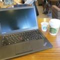 六本木ミッドタウンのスタバでThinkPad X240sを広げて無料wifiにつなげる