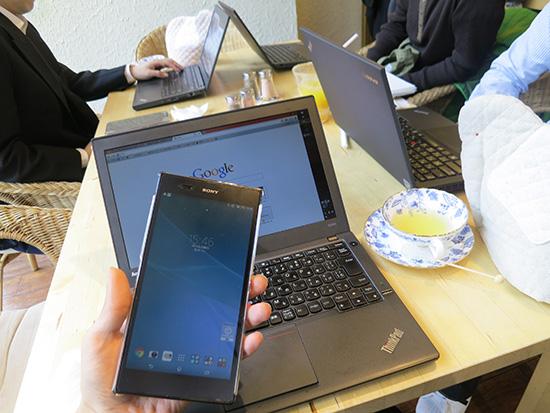 ThinkPad X240s デザリングでネットにつなげて一仕事