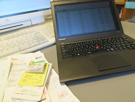 ThinkPad X240sを使って確定申告の仕訳入力データを作成