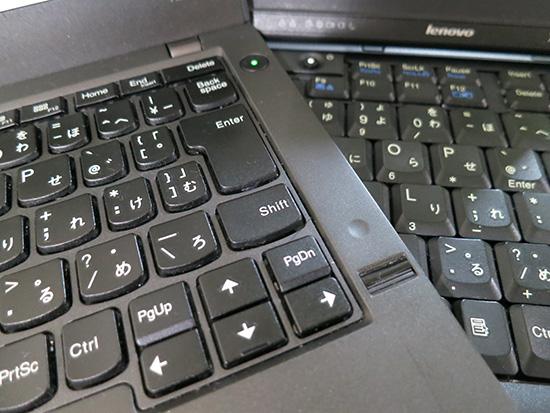 ThinkPad アイソレーションとパンタグラフ式のキーボードを並べてみる