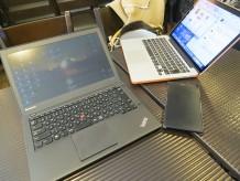 ThinkPad X240sとMacBookプロを使ってスタバで打ち合わせ