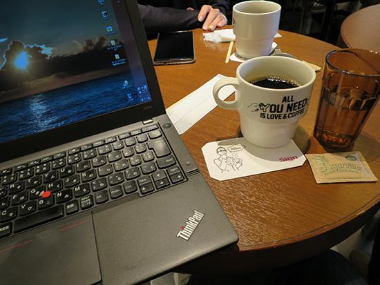 コーヒーとThinkPad X240s
