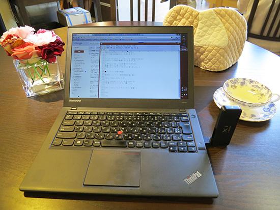 以前はOCNモバイルワンの格安SIMを クロッシーのUSB端末に入れてノートパソコンをネットにつなげていた