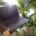 ThinkPad X250とヤシの木がよく似合う?!