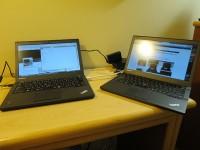Thinkpad X250と X240sハワイでノートパソコン2台持ち込む