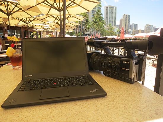 ロイヤルハワイアンマイタイバーでThinkPad X240sとHXR-NX3
