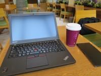 麻布十番のカフェ クーツでThinkPad X250