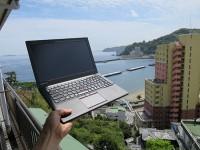 熱海の旅館から太平洋とThinkPad X250