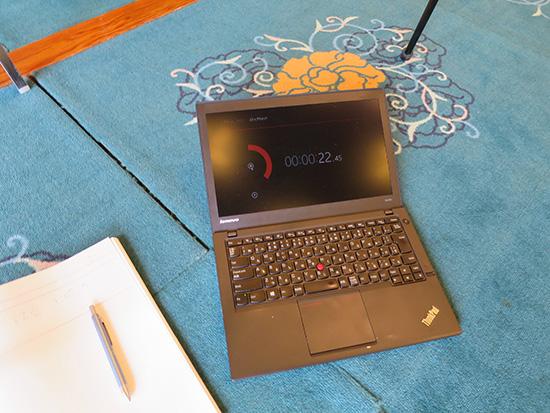 Thinkpad X240s はストアアプリのストップウォッチを使ってタイムキーパー