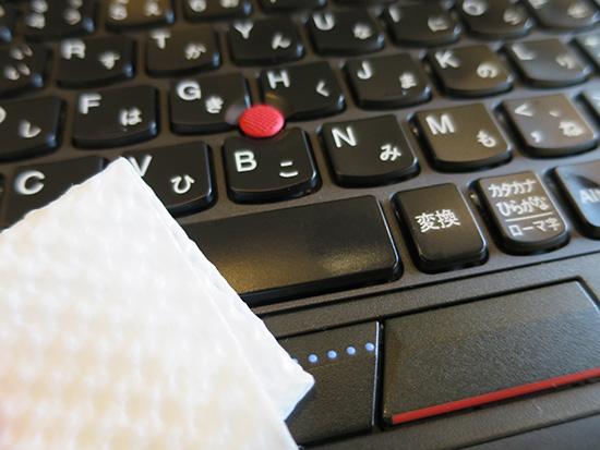 X250 キーボード バックライトありのモデルは汚れやすいので頻繁に拭き取っています