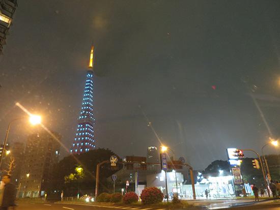 最後は東京タワーのイルミネーションをみてミニ旅終了