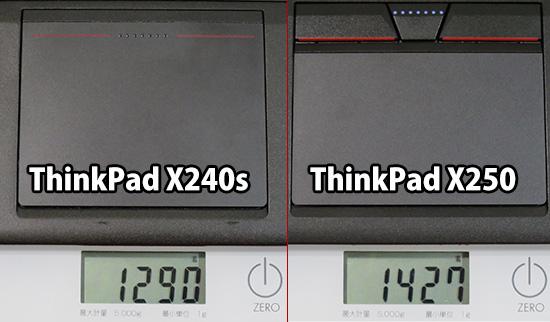 Thinkpad X250とX240sの重さを実測してみた結果