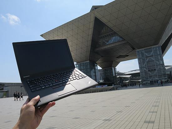 東京ビックサイトでノートパソコン ThinkPad X250に3セルバッテリー